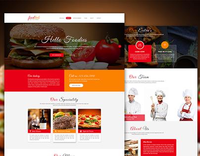 Foodhub | Responsive Material Design Template