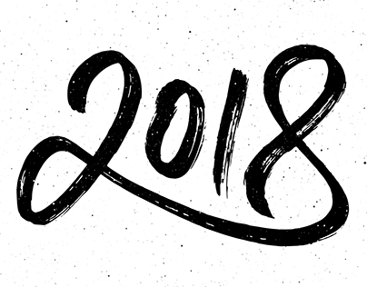 2018 New Year lettering and greeting cards designs
