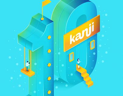 Ilustración - Kanji 10 años