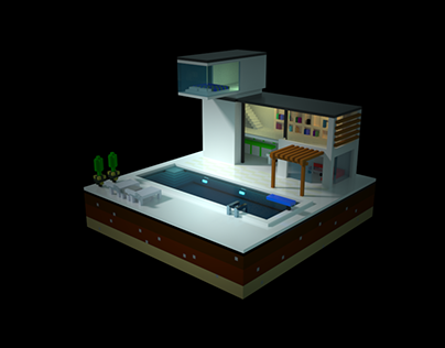 Voxel future house