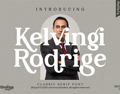 Kelvingi Rodrige - Luxury Serif Font