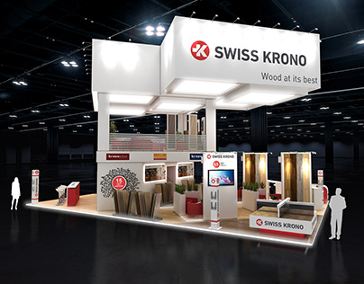 swiss krono stand. 3ds max+Vray