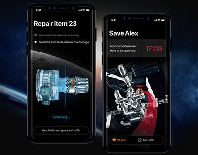 Space A concept (UX/IU case study)