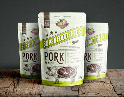 Dog Treats Package Design