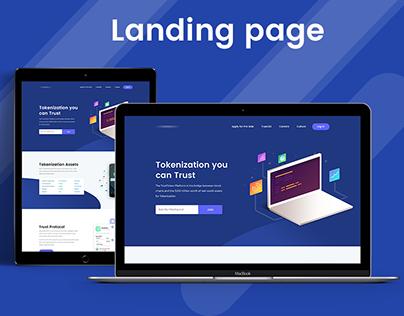 TrustToken Landing Page
