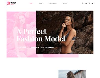 Fashion Model Landing Page