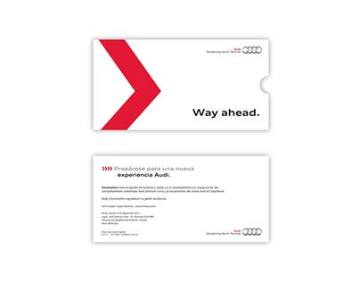 Invitación para evento Audi
