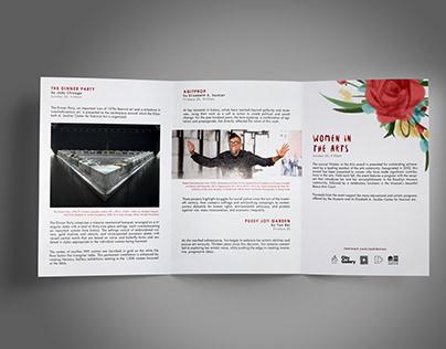 Half bi fold brochure design