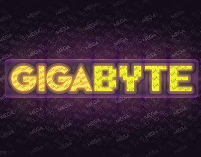 Gigabyte/Typography Art Vector Logo