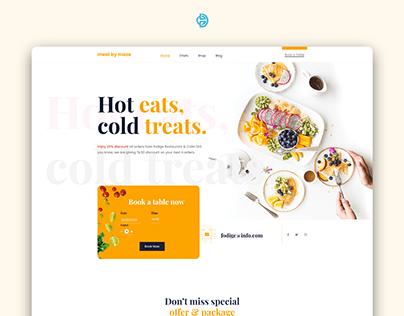 Meal By Maze Restaurant UI UX Design