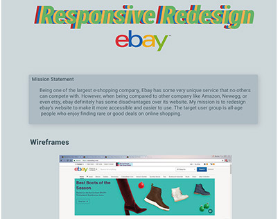 Redesign Ebay