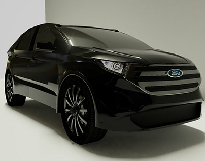 Ford Edge Crossover SUV Low Poly