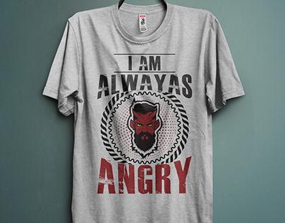 Angry T-shirt Design