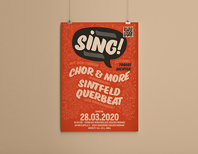 """""""SING!"""" – event poster for a choral concert"""