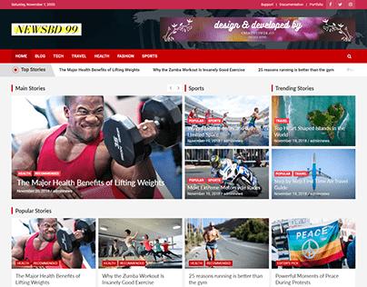 News/ Blog Website