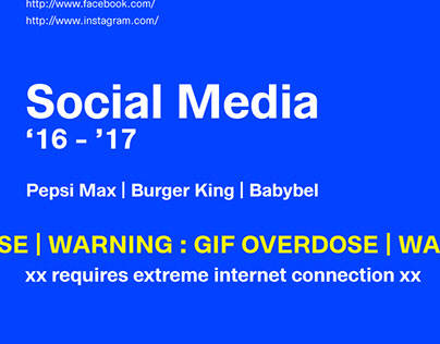 Social Media | Pepsi Max | Burger King | Babybel