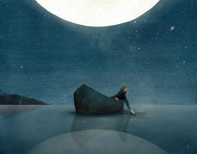 Frammenti di notturno | Illustrazione editoriale
