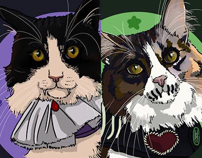 Pet Portrait: Spooky Cattails