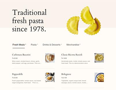 Shopify Food Website