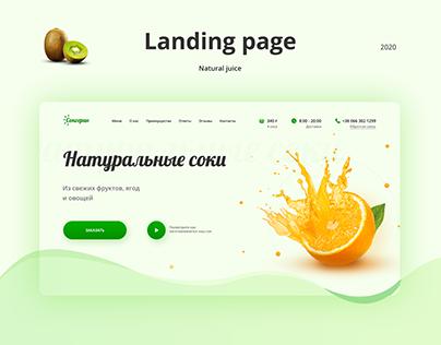 Natural juice Landing page