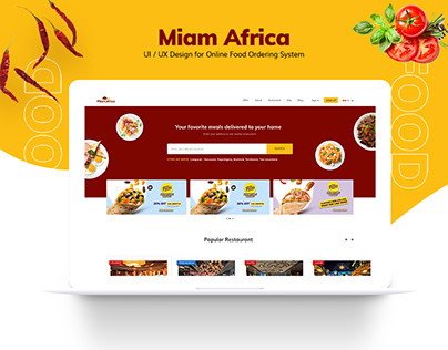 Miam Africa - Online Food Ordering Website Design