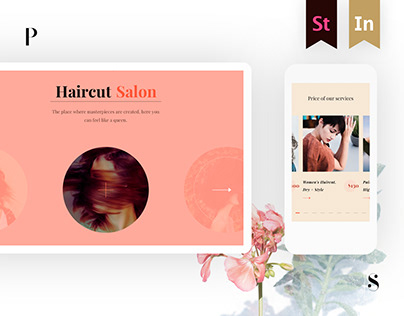 Web project for hair salon