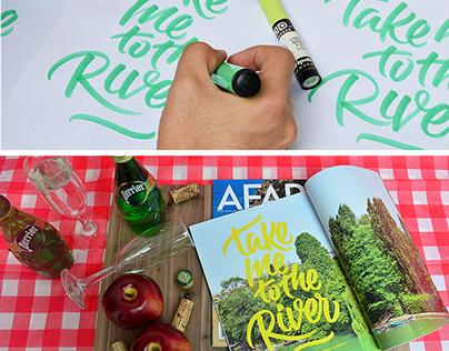 AFAR ®   Custom Brush Pen Lettering