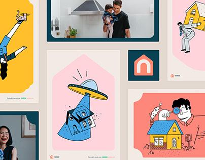 Nested visual identity & web design