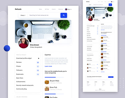 Refoodz User Profile Landing Page