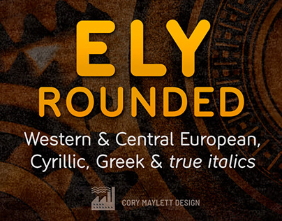 Ely typeface design