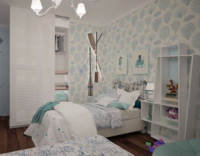 Kids room. Private house. 2018