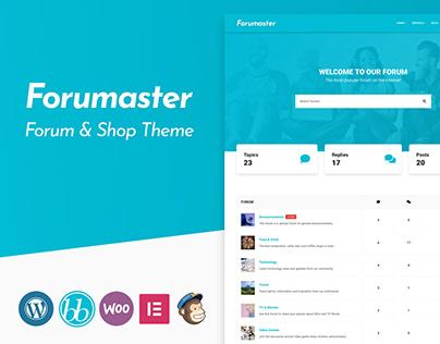 Forumaster - WordPress bbPress Forum Theme