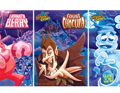 Franken Berry, Count Chocula, and Boo Berry Redesign