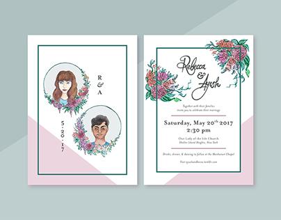 Rebecca & Ayush Wedding Invitations