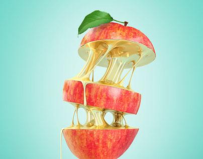 Golden Fruits - Poster Design
