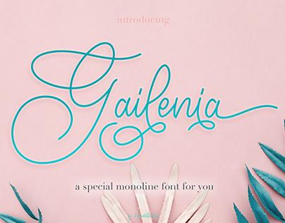 Gailenia - a special monoline font for you