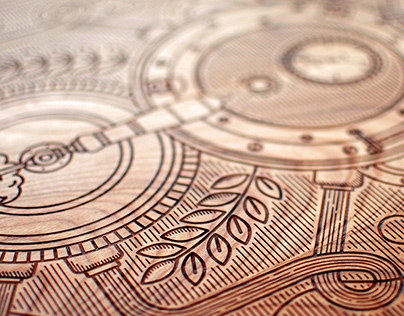 The Art of Brew - Wood Engraving
