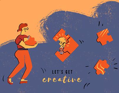 Newsletter design and Illustration