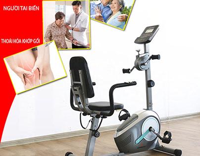 Máy tập phục hồi chức năng-Xe đạp cho người tai biến