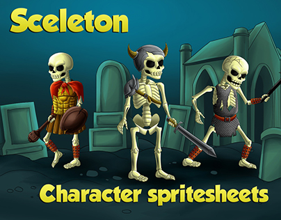 2D Game Skeleton Character Sprites