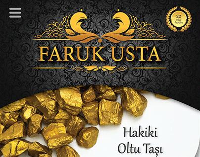 """REYHAN PİR - """"FARUK USTA"""" Web Katalog Tasarımı"""
