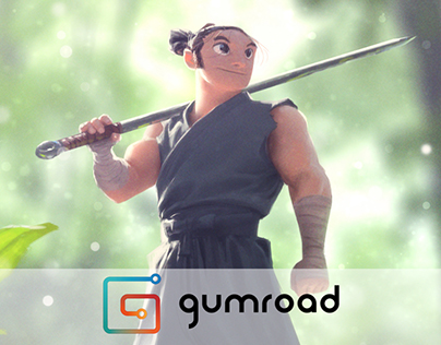 Painting a Character in an Environment Gumroad Tutorial