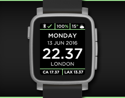 Business Time watchface for Pebble smartwatches