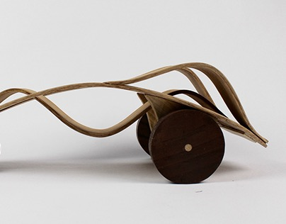 Bent Lamination Toy Car and Walnut Disk