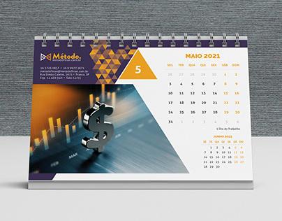 Método - calendário de mesa 2021
