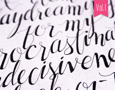 Hand-lettered Sketches – Vol. 1
