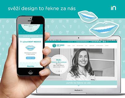 Nový webový kabátek pro kliniku DENT MEDICO