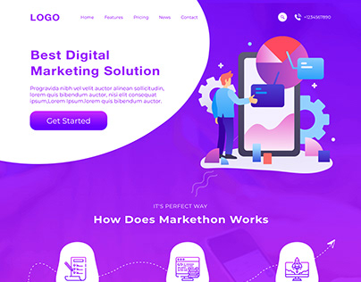 Digital Marketing Landing page - UI UX Design