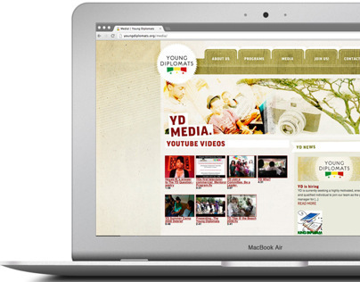 Young Diplomats Branding and Website