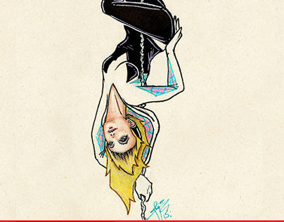 SPIDER GWEN Pole Dancer